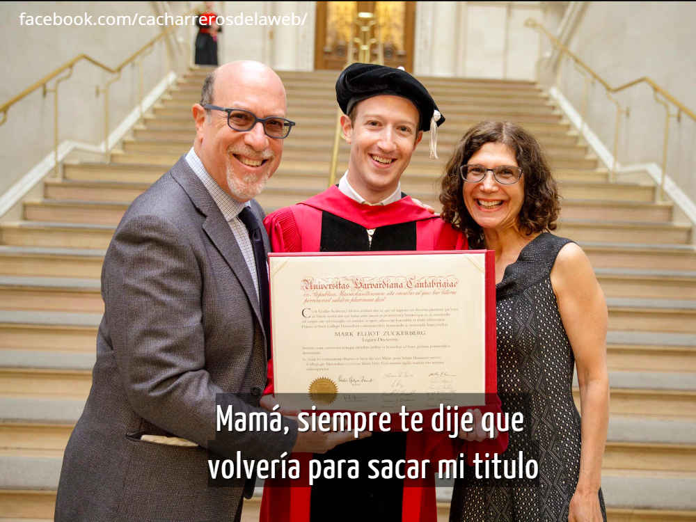 Mark Zuckerberg se gradúa de la universidad de Harvard