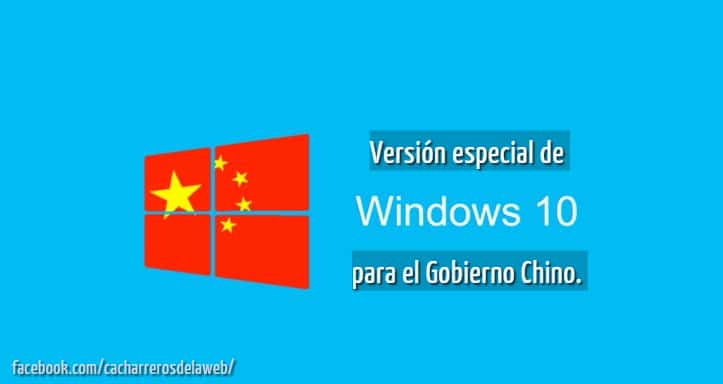 Windows 10 para el Gobierno Chino